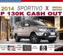 2014 ISUZU Crosswind SPORTIVO X P130K Lowest Cash Out