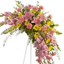 Sympathy funeral flower arrangement delivery spray type